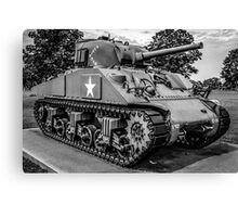 Veterans Sherman Tank Canvas Print