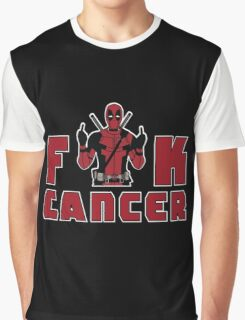 Dad - Deadpool Cancer Graphic T-Shirt