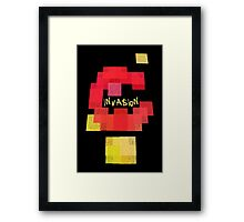 Space Invaders vs Tetris Framed Print