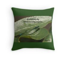 Get outside Throw Pillow