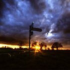 Crossroads Sunset by Nigel Bangert