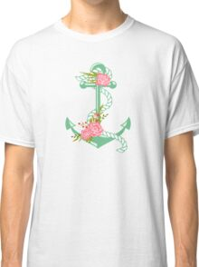 Anchors and flowers Classic T-Shirt