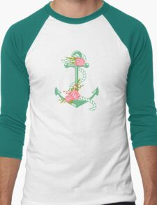 Anchors and flowers Men's Baseball ¾ T-Shirt