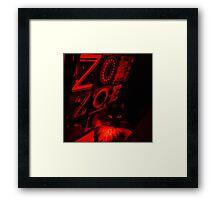 Le Crescent Adore Zoe Framed Print