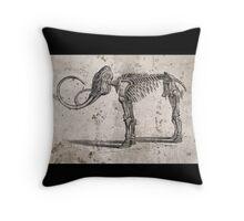 Mammoth Skeleton Throw Pillow