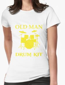 Dad - Never Underestimate An Old Man With A Drum Kit Womens Fitted T-Shirt