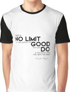 no limit to the amount of good - ronald reagan Graphic T-Shirt