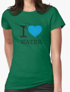 I ♥ WATER Womens Fitted T-Shirt