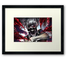 Ken Kaneki Mask Framed Print