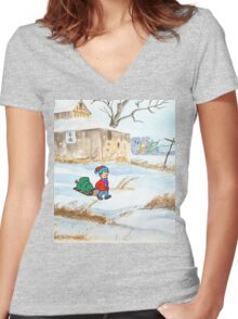 Merry Christmas! Women's Fitted V-Neck T-Shirt