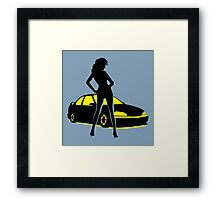 Car Tuning Girl (Coupe) Framed Print