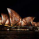 Bark Sails - Sydney Vivid Festival by Bryan Freeman