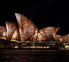 Bark Sails - Sydney Vivid Festival by Bryan Freeman