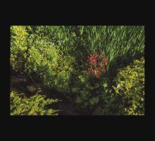 Gardening Delights - Miniature Creek with Red Primrose Kids Tee