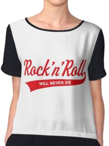 Rock 'n' Roll Will Never Die (Red) Chiffon Top