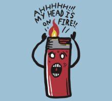 my head is on Fire One Piece - Short Sleeve