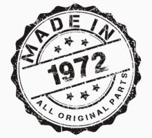 MADE IN 1972 ALL ORIGINAL PARTS by smrdesign