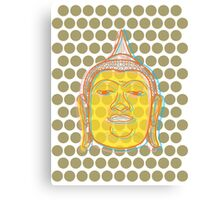 Buddha's Smile Zen Pop Art Canvas Print