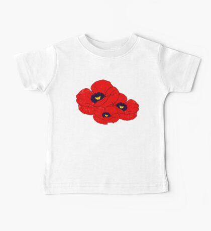 Poppy White Baby Tee