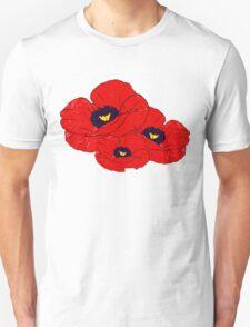 Poppy White Unisex T-Shirt