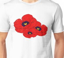 Poppy White Unisex T-Shirt