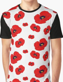 Poppy White Graphic T-Shirt