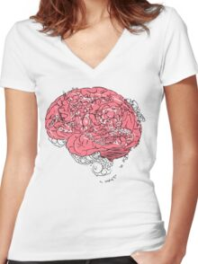 Brain Washed Women's Fitted V-Neck T-Shirt