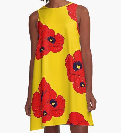 Poppy Yellow A-Line Dress
