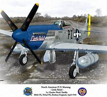 "North American P-51 ""Little Rebel"" by A. Hermann"