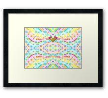 Cute Girly Pastel Circles Waves Winged Heart Angel Framed Print