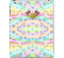 Cute Girly Pastel Circles Waves Winged Heart Angel iPad Case/Skin