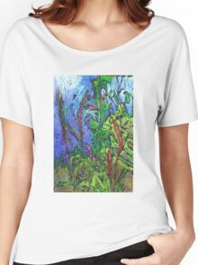 Reeds and Grass, Otmoor Nature Reserve, Women's Relaxed Fit T-Shirt