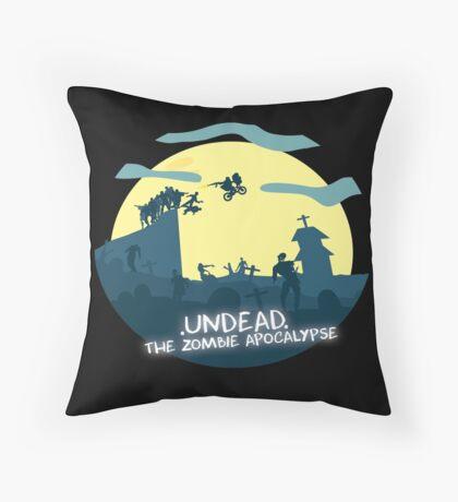 Undead, The Zombie Apocalypse (ET Spoof) Throw Pillow