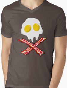 Eggs Bacon Skull Mens V-Neck T-Shirt