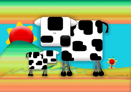 Moo Cow Sunrise Family by © Cassidy (Karin) Taylor