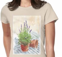 Lavender in a pot Womens Fitted T-Shirt