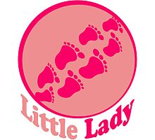 Little lady footprints girl by Style-O-Mat