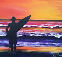 """""""Sunrise surfer"""" by noleenr"""