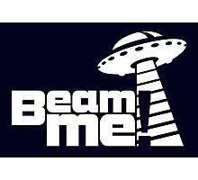 Beam me up V.3.1 (white) Photographic Print