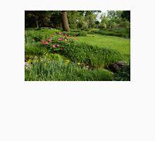 Gardening Delights - Vigorous Greens and Blooming Peonies Unisex T-Shirt