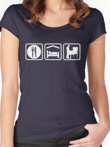 Funny Pinball Eat Sleep T Shirt Women's Fitted Scoop T-Shirt