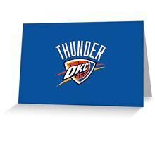 Oklahoma City Thunder 3 Greeting Card