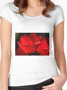Tulips Too Close Women's Fitted Scoop T-Shirt