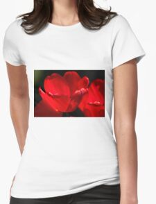 Tulips Too Close Womens Fitted T-Shirt