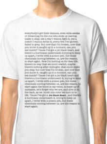 Jet Black Heart Lyrics Classic T-Shirt