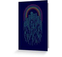 Neon City Greeting Card