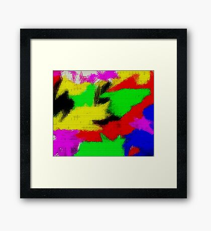 oil pastel Framed Print