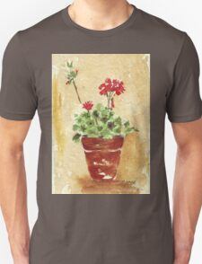 Why grow geraniums in containers? Unisex T-Shirt