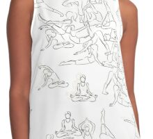 Yoga Asanas - drawing Contrast Tank