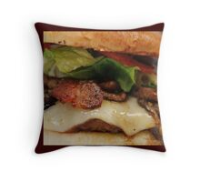 Oh my, Cheeseburger Throw Pillow